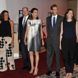 Estefanía, Alberto y Carolina de Mónaco junto a Andrea Casiraghi y Tatiana Santo Domingo en la gala Fight AIDS 2015