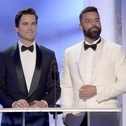 Matt Bomer y Ricky Martin durante la gala de los SAG 2019