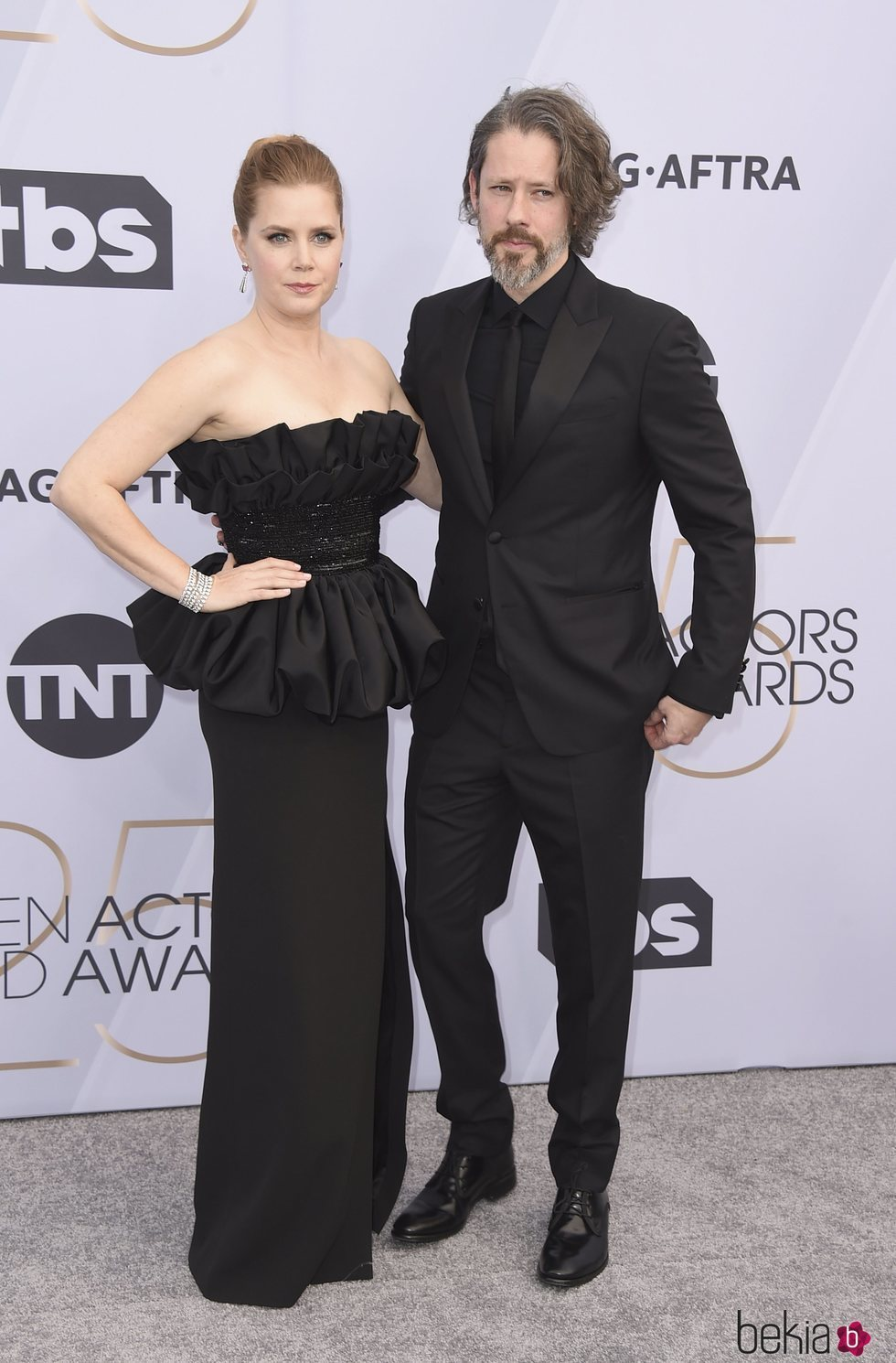 Amy Adams y Darren Le Gallo en el photocall de los SAG 2019