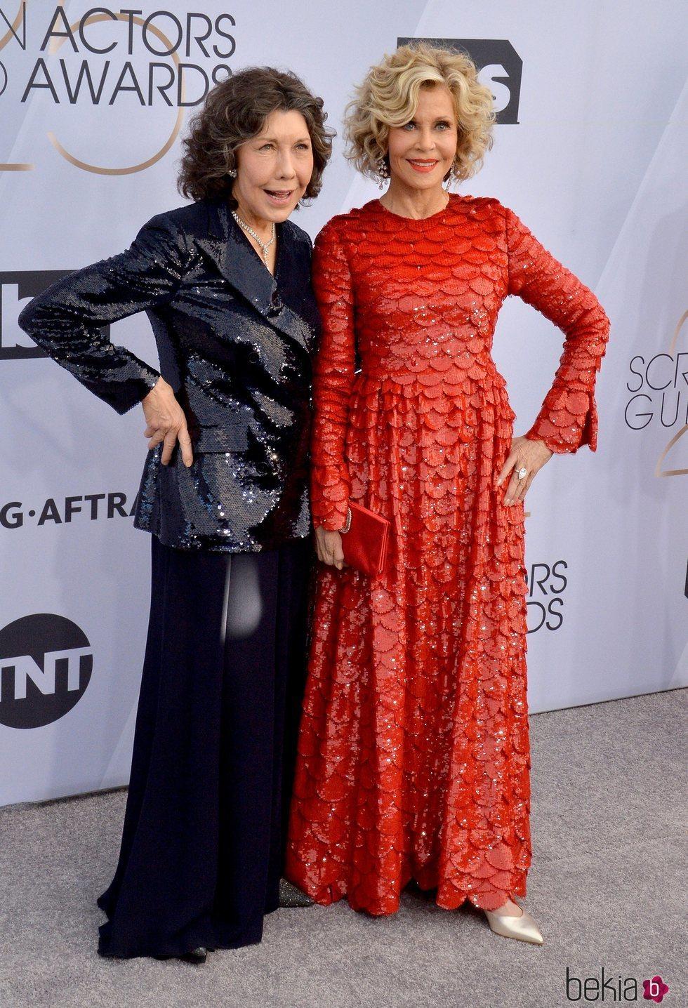 Lily Tomlin y Jane Fonda em los SAG 2019