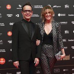 Ángel Llàcer y Andrea Vilallonga en los Premios Gaudí 2019