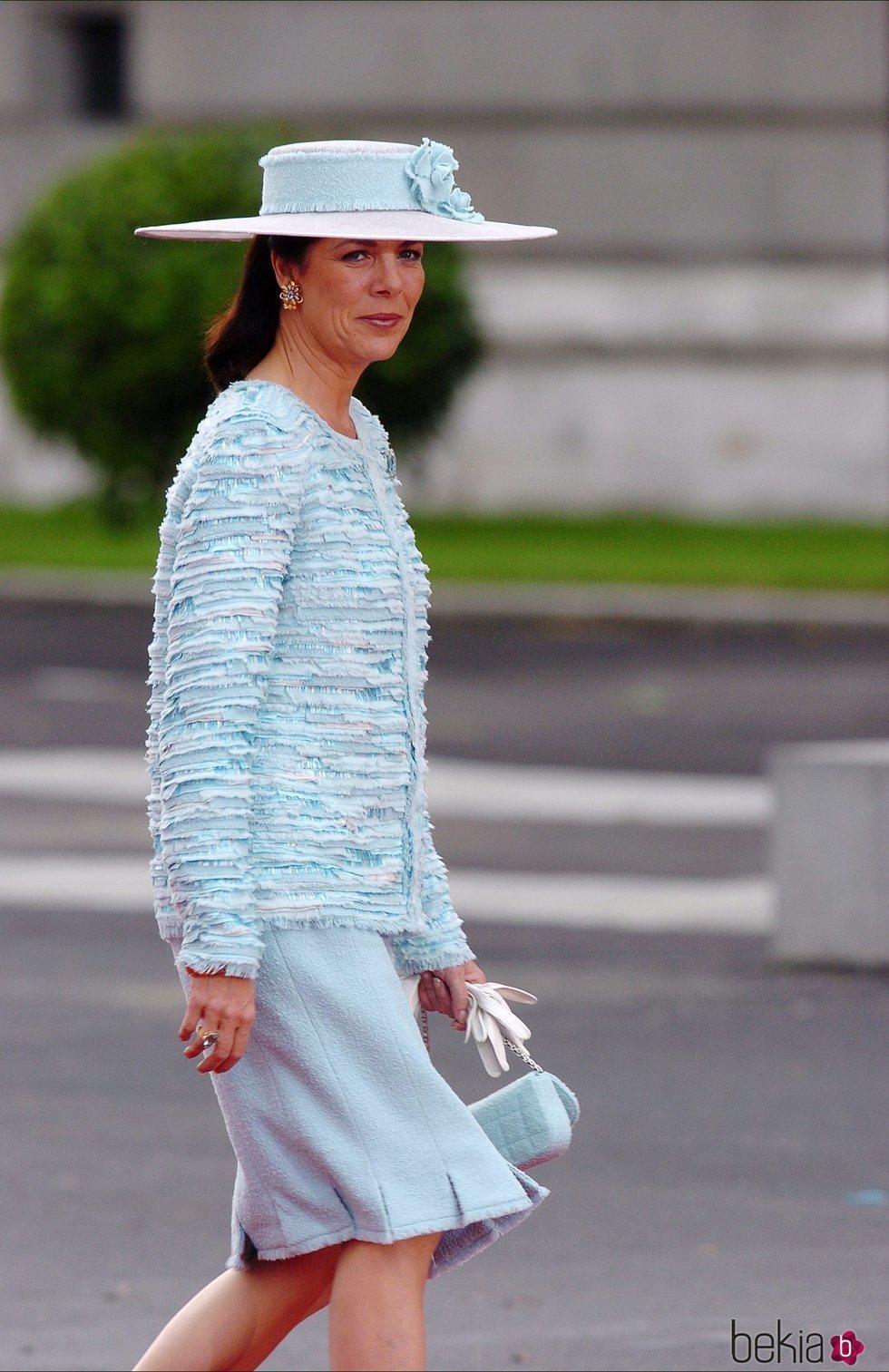 Carolina de Mónaco en la boda de los Reyes Felipe y Letizia
