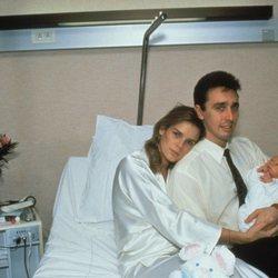 Estefanía de Mónaco y Daniel Ducruet con su hijo Louis recién nacido