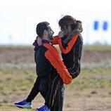 Asraf Beno y Chabelita Pantoja se abrazan con cariño