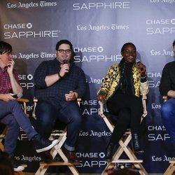 Lupita Nyongo en un panel en Los Ángeles