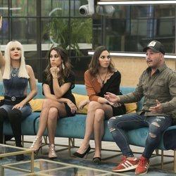 Kiko Rivera, Irene Rosales, Raquel Lozano, Ylenia y Juanmi durante la gala 5 de 'GH DÚO'
