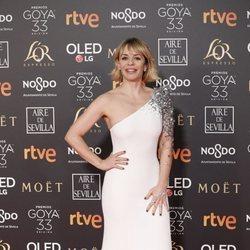 María Adánez en la alfombra roja de los Premios Goya 2019