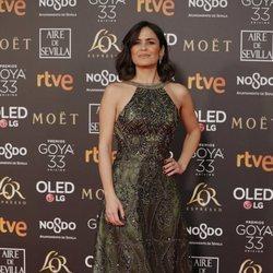 Elena Sánchez en la alfombra roja de los Premios Goya 2019