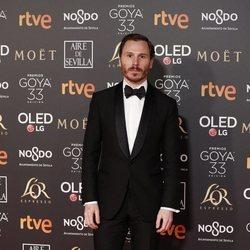 Ruben Ochandiano en la alfombra roja de los Premios Goya 2019