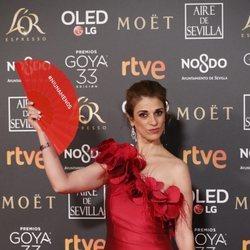 Ruth Gabriel en la alfombra roja de los Premios Goya 2019