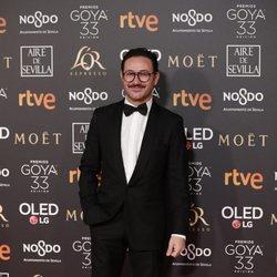 Carlos Santos en la alfombra roja de los Premios Goya 2019