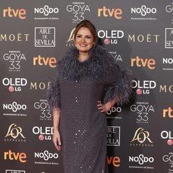 Ainhoa Arteta en la alfombra roja de los Premios Goya 2019