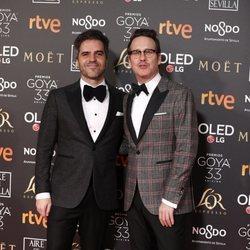 Ernesto Sevilla y Joaquín Reyes en la alfombra roja de los Premios Goya 2019