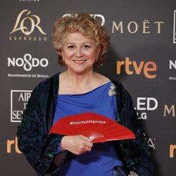 Esther García en la alfombra roja de los Premios Goya 2019