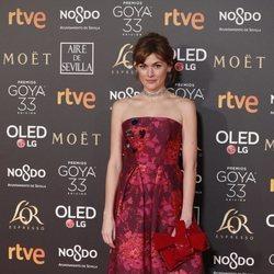 Marta Nieto en la alfombra roja de los Premios Goya 2019