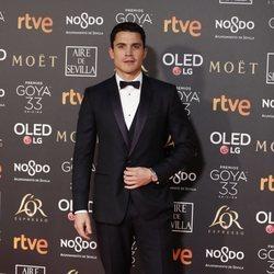 Álex González en la alfombra roja de los Premios Goya 2019