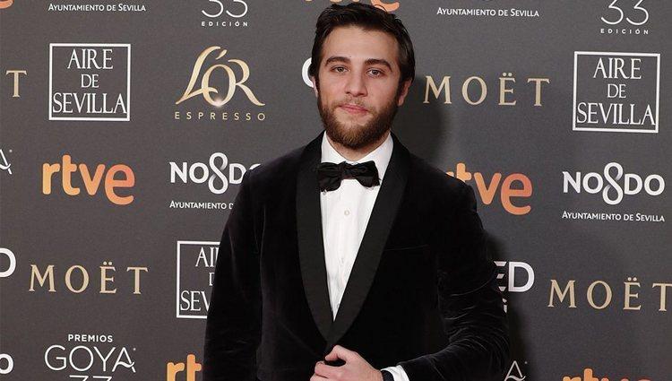 Pol Monen en la alfombra roja de los Premios Goya 2019