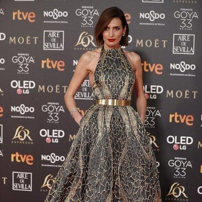 Nieves Álvarez en la alfombra roja de los Premios Goya 2019