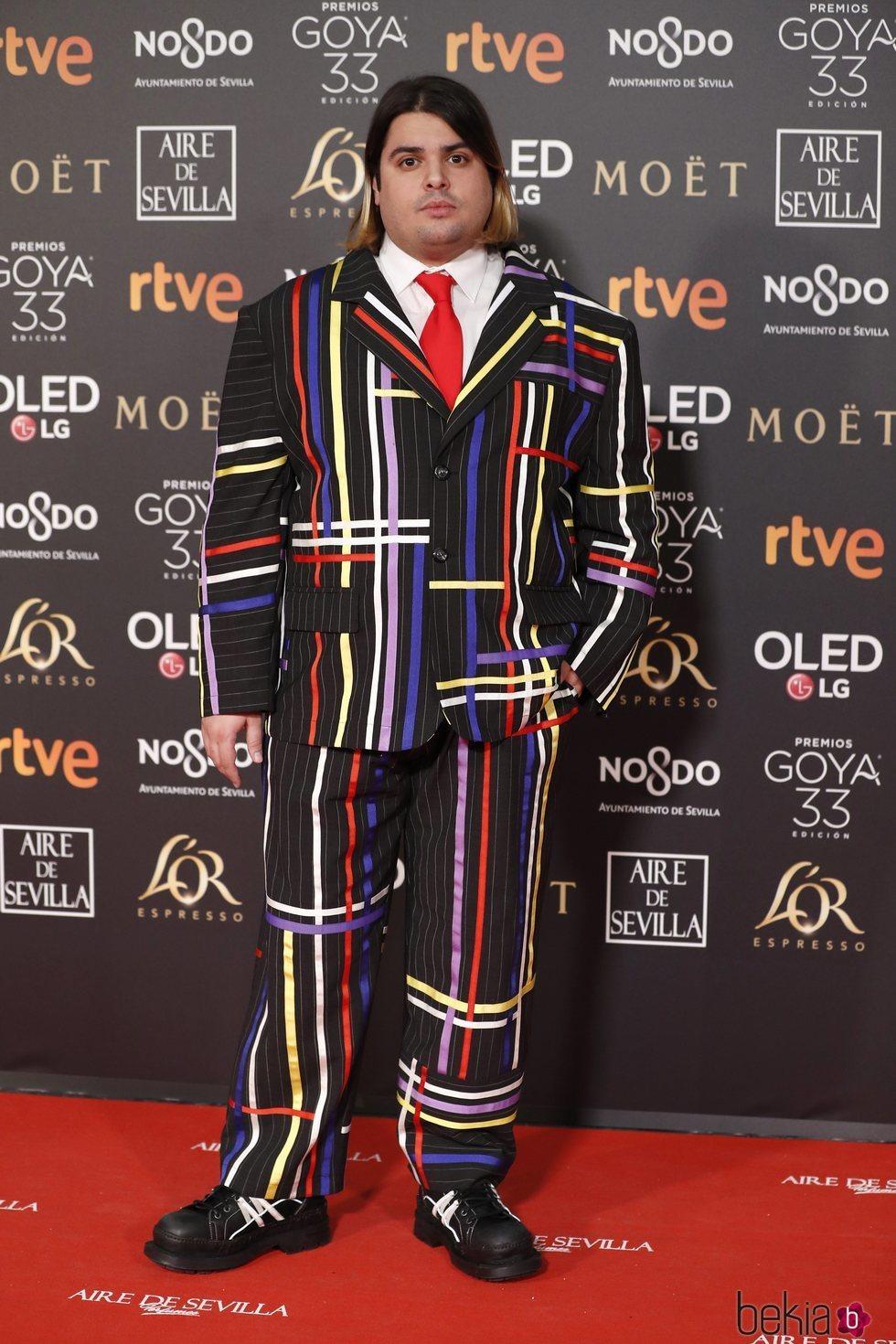 Brays Efe en la alfombra roja de los Premios Goya 2019