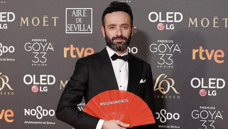 Rodrigo Sorogoyen en la alfombra roja de los Premios Goya 2019