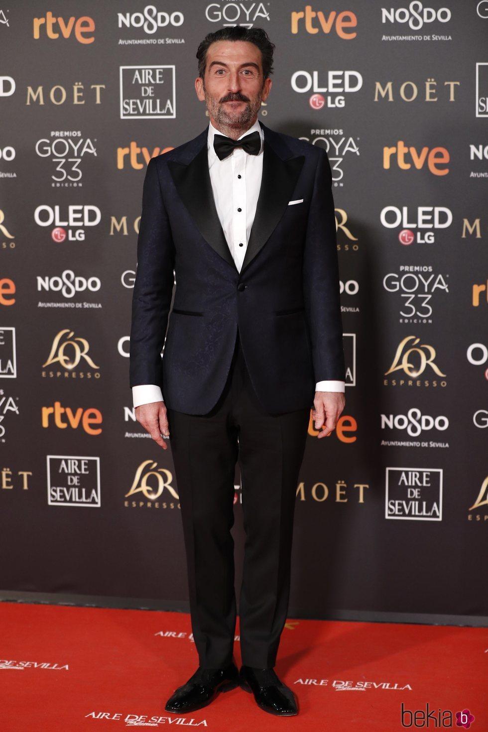 Luis Zahera en la alfombra roja de los Premios Goya 2019