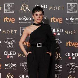 María León en la alfombra roja de los Premios Goya 2019