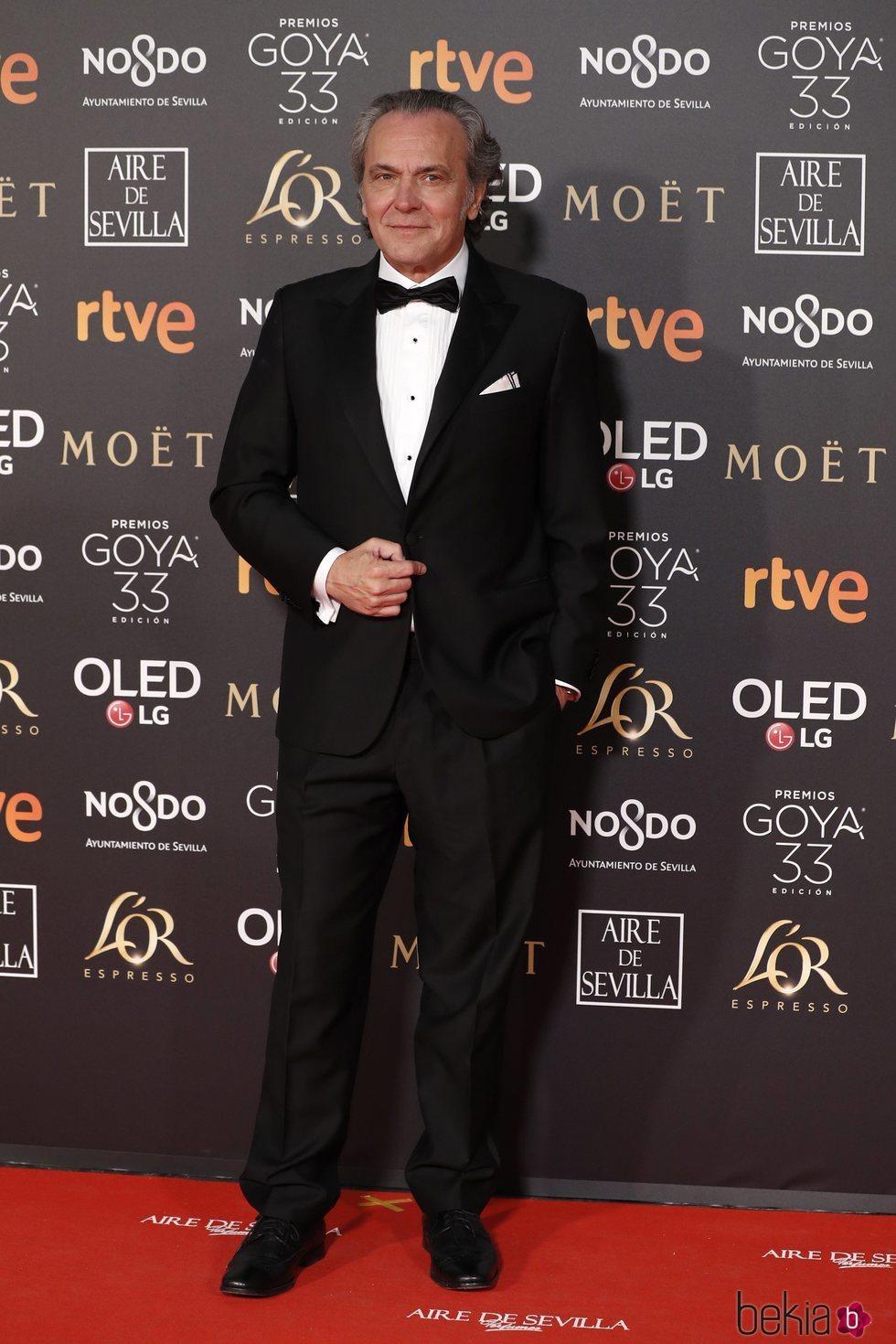 José Coronado en la alfombra roja de los Premios Goya 2019