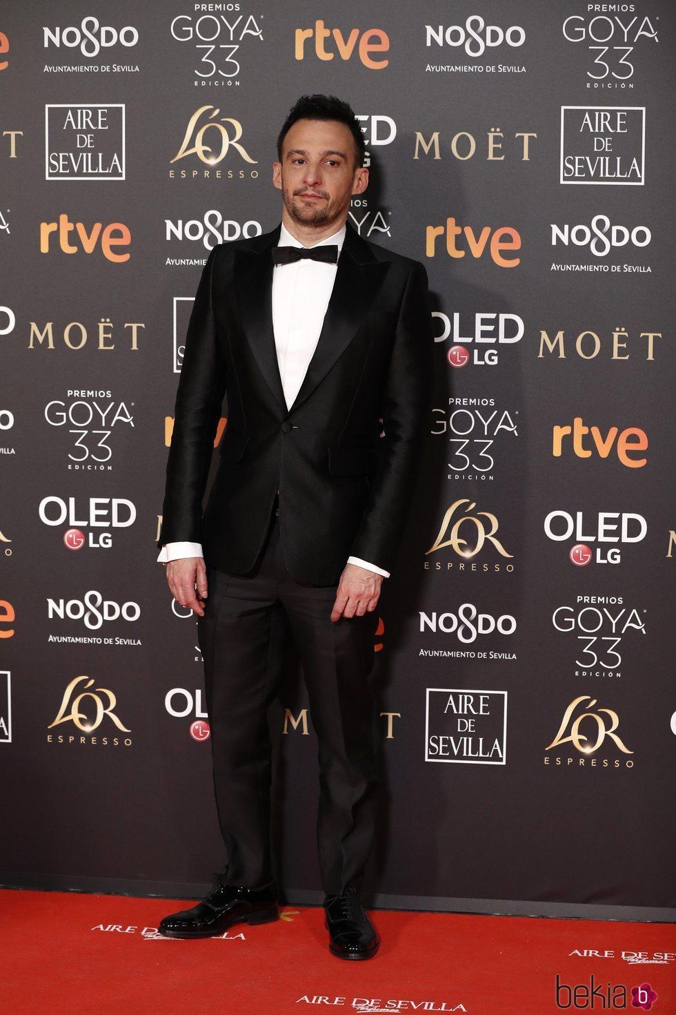 Alejandro Amenábar en la alfombra roja de los Premios Goya 2019