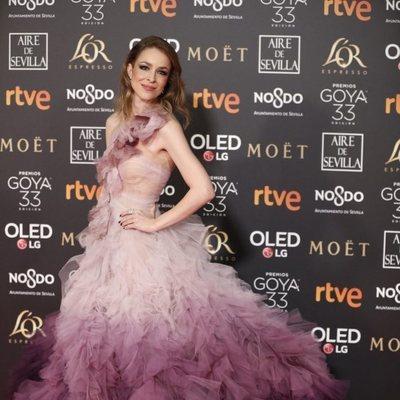 Silvia Abascal en la alfombra roja de los Premios Goya 2019