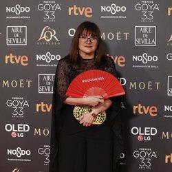 Isabel Coixet en la alfombra roja de los Premios Goya 2019