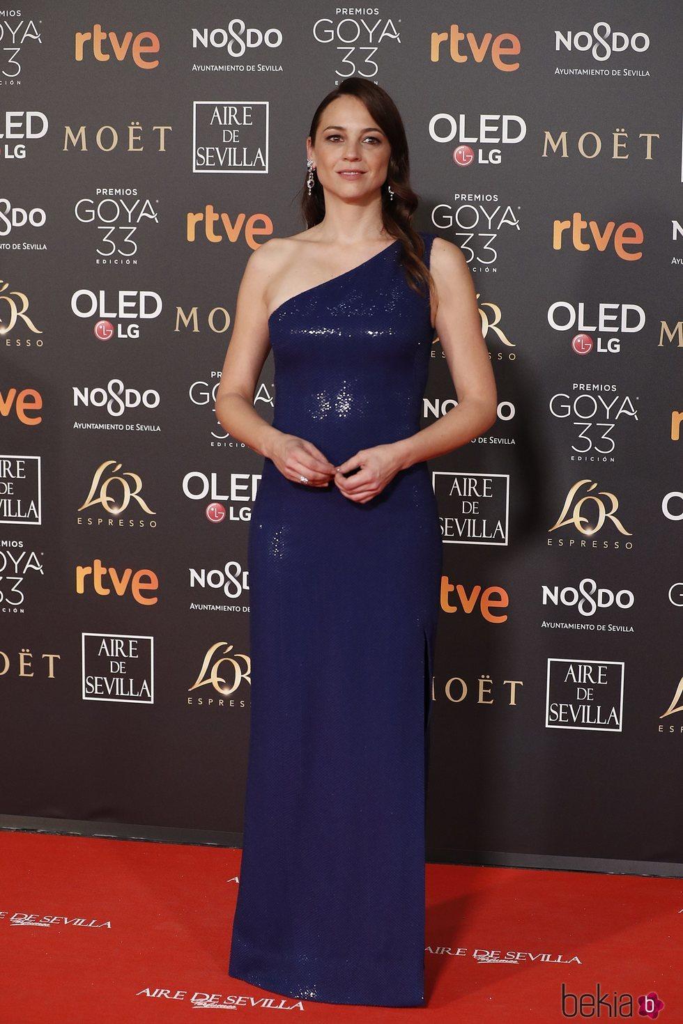 Leonor Watling en la alfombra roja de los Premios Goya 2019