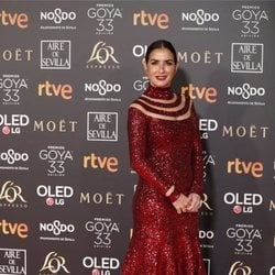 Belén López en la alfombra roja de los Premios Goya 2019