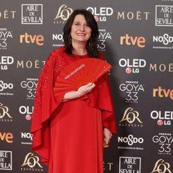 Adelfa Calvo en la alfombra roja de los Premios Goya 2019