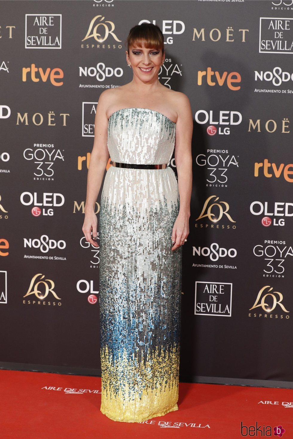 Eva Llorach en la alfombra roja de los Premios Goya 2019