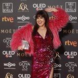 Loles León en la alfombra roja de los Premios Goya 2019