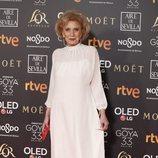 Marisa Paredes en la alfombra roja de los Premios Goya 2019