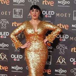 Rossy de Palma en la alfombra roja de los Premios Goya 2019
