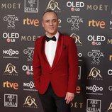 Javier Gutiérrez en la alfombra roja de los Premios Goya 2019