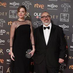 Carolina Bang y Álex de la Iglesia en la alfombra roja de los Premios Goya 2019