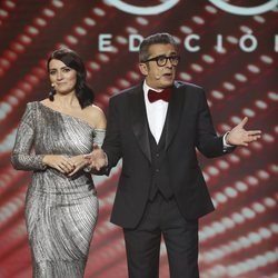 Andreu Buenafuente y Silvia Abril en la gala de los Premios Goya 2019