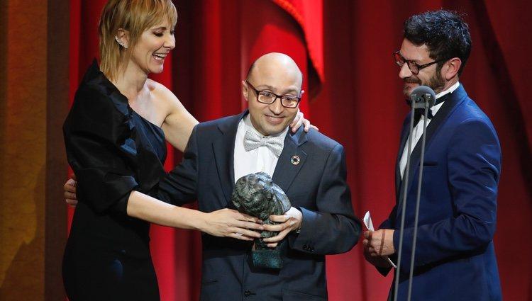 Jesús Vidal recibe su premio en los Goya 2019