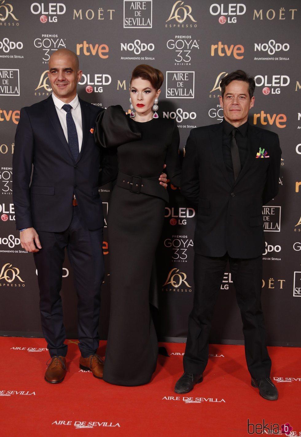 Jorge Sanz en la alfombra roja de los Premios Goya 2019