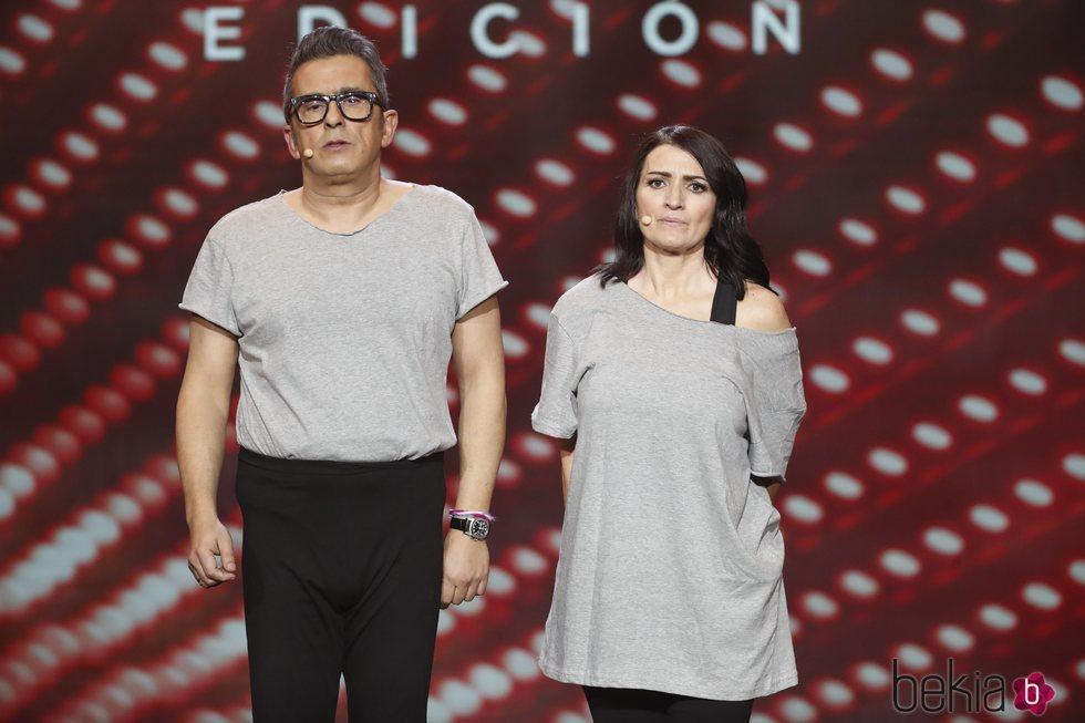 Andreu Buenafuente y Silvia Abril durante uno de sus momentos en los Premios Goya 2019