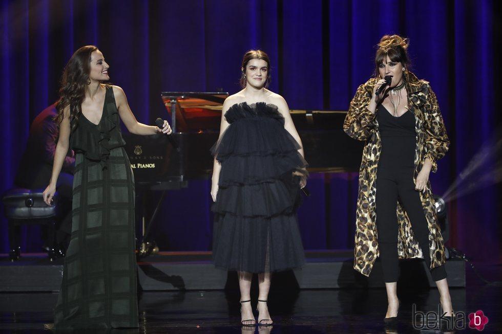 Judit Neddermann, Amaia Romero y Rozalén en los Premios Goya 2019