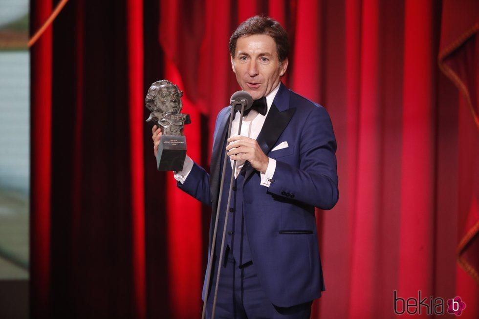 Antonio de la Torre agradeciendo el galardón en los Premios Goya 2019