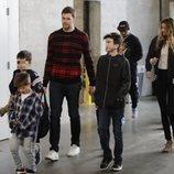 Gisele Bündchen, Tom Brady y sus hijos en la final de la Super Bowl 2019