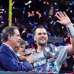 Tom Brady y su hija Vivian en la Super Bowl 2019