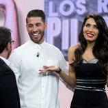 Sergio Ramos y Pilar Rubio hablando en 'El hormiguero' con Pablo Motos de su boda