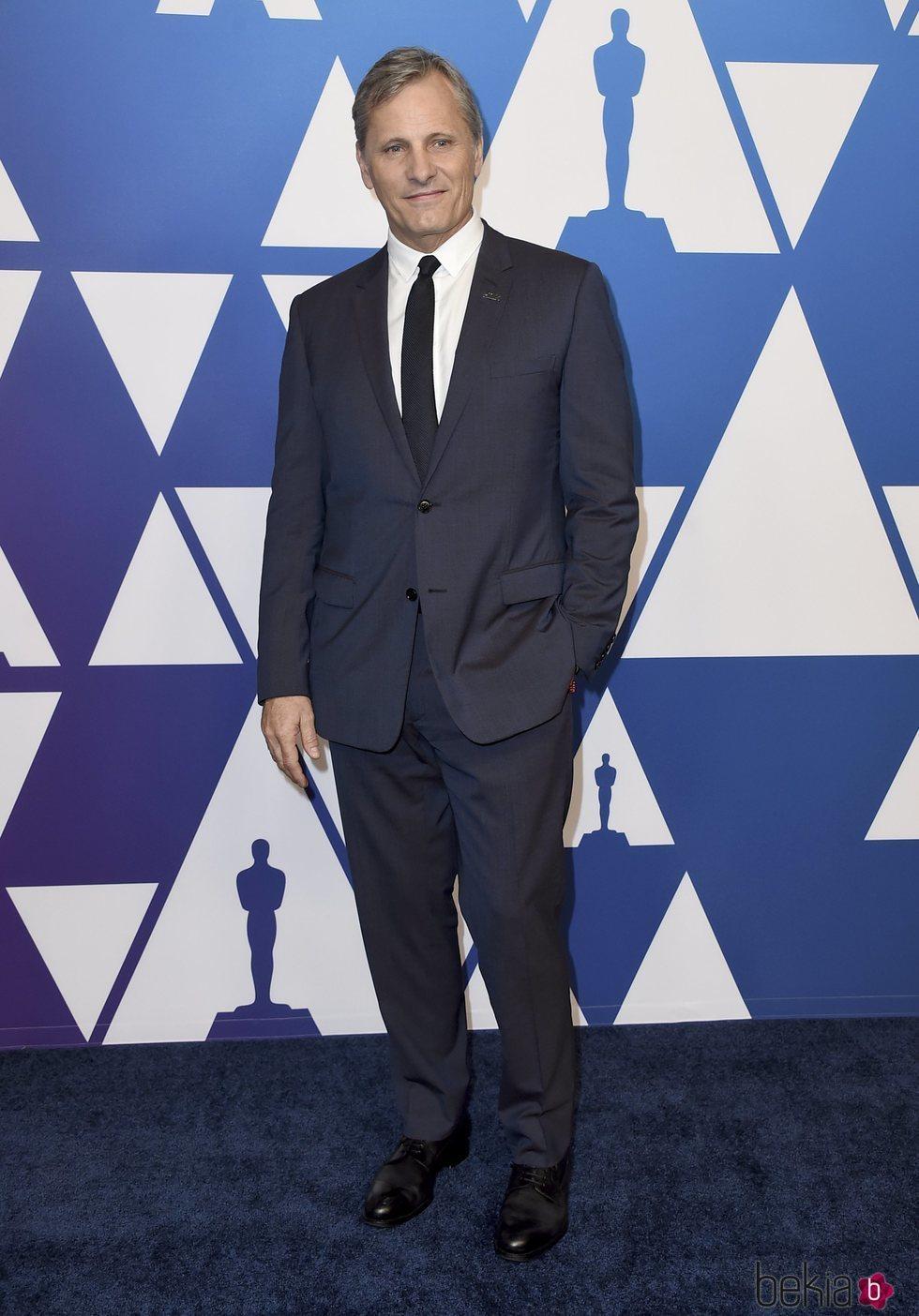 Viggo Mortensen en el almuerzo de nominados de los Premios Oscar 2019