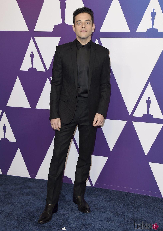 Rami Malek en el almuerzo de nominados de los Premios Oscar 2019